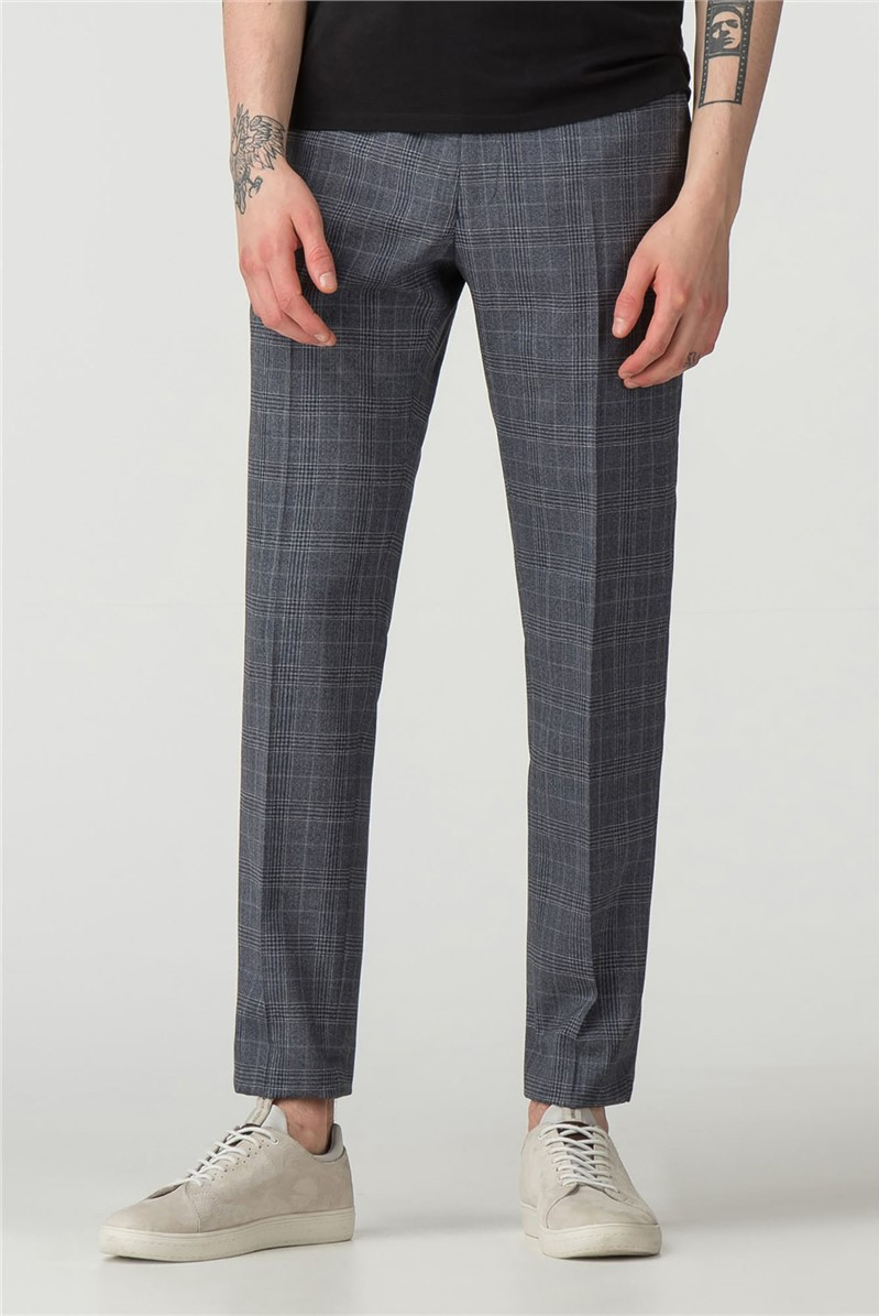 Slate Chambray Check Camden Fit Trouser