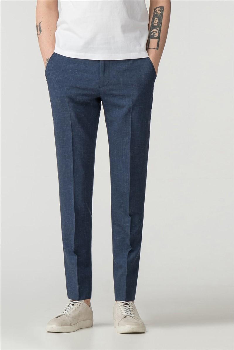 Summer Blue Fleck Camden Fit Trouser