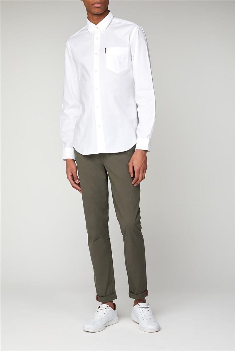 Long Sleeved White Oxford Shirt