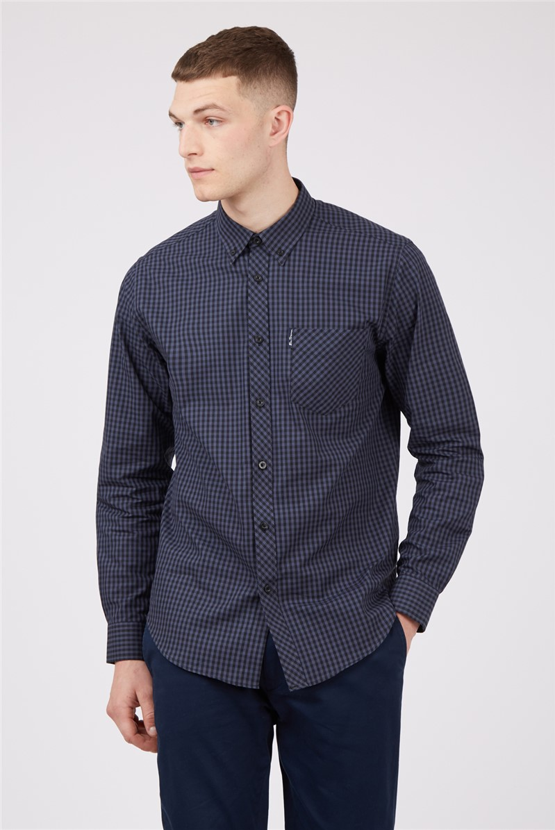 Long Sleeve Gingham Shirt