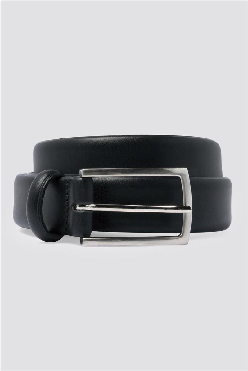 Black Full Grain Leather edge formal Belt