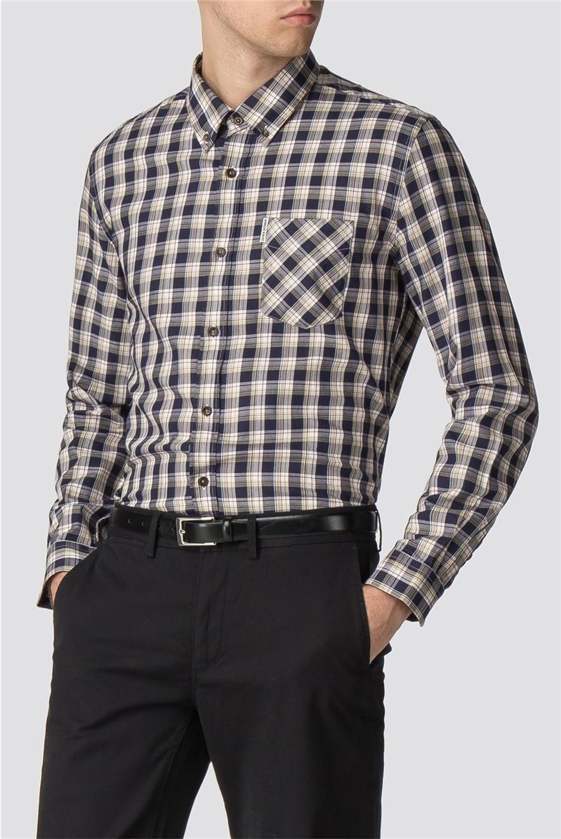 Long Sleeve Heritage Windowpane Shirt