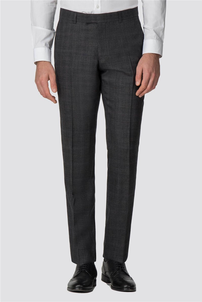 Racing Green Charcoal Rust Tailored Fit Trouser