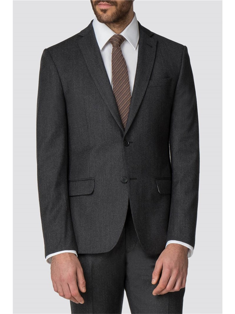 Racing Green Charcoal Flannel Tailored Fit Jacket