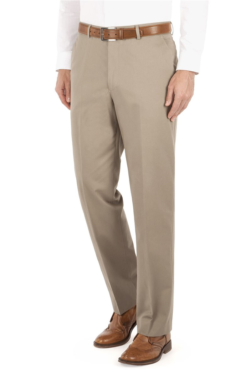 Stone Cotton Trouser