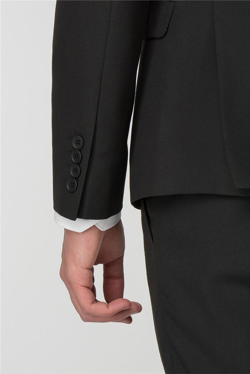 Black Panama Skinny Fit Trousers