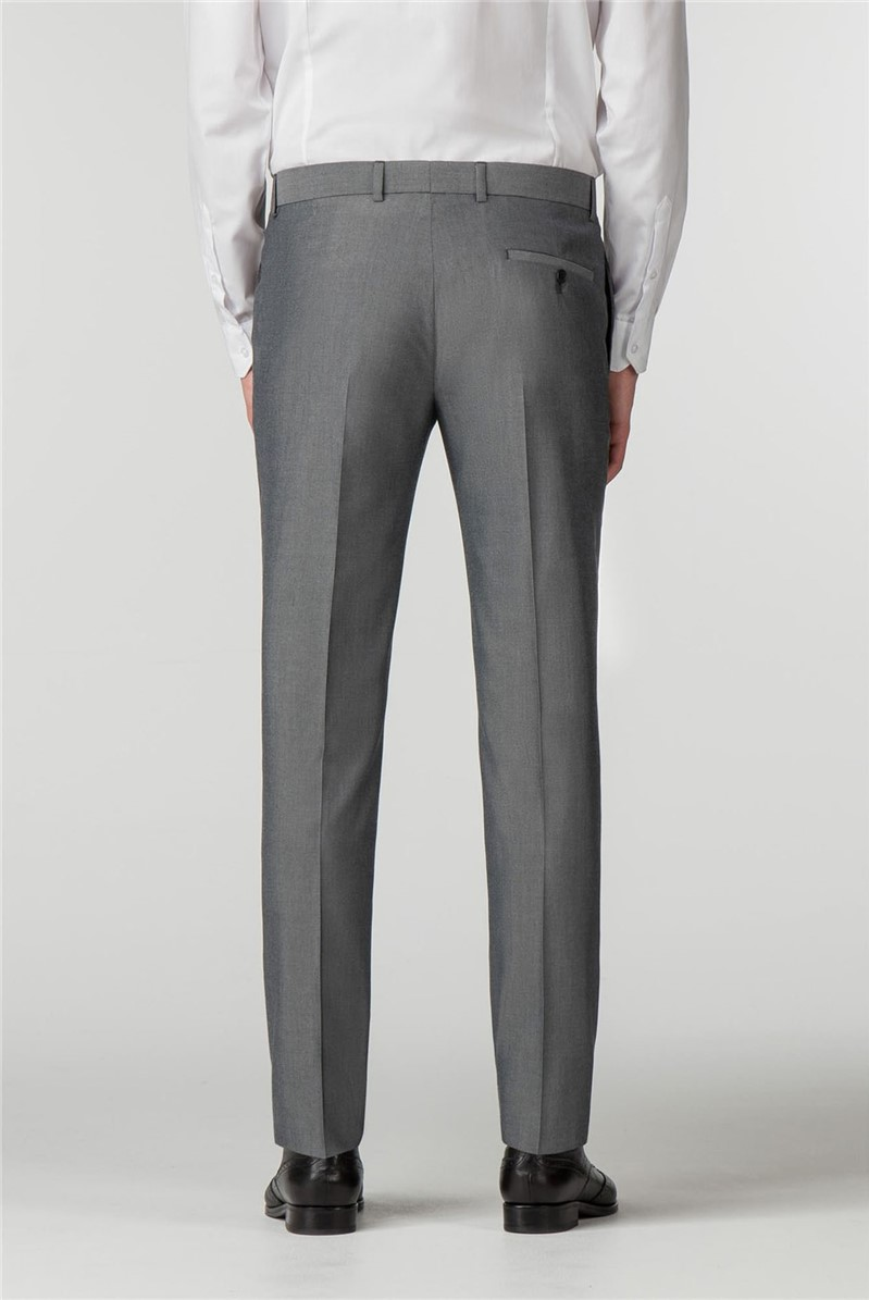 Silver Grey Skinny Fit Trousers