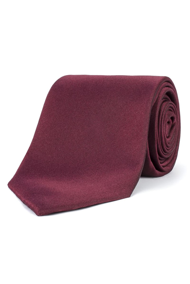 Stvdio Wine Plain Silk Tie