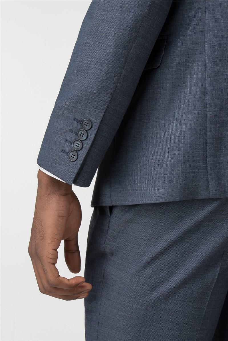 Airforce Blue Pick & Pick Slim Fit Jacket