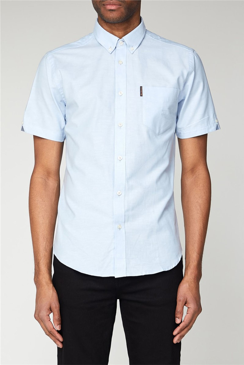 Sky Blue Short Sleeved Oxford Shirt