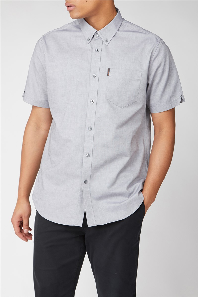 Light Grey Short Sleeved Oxford Shirt
