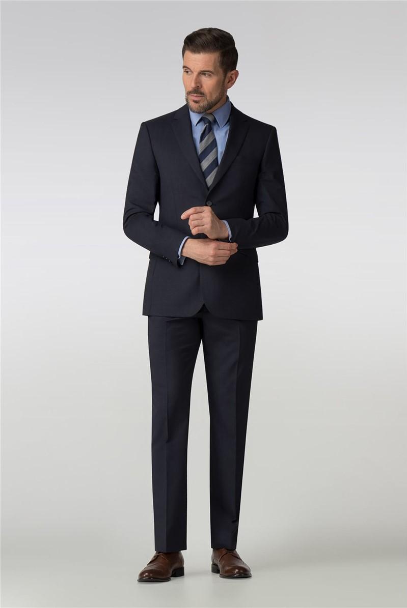 Navy Mirco Check Regular Fit Suit