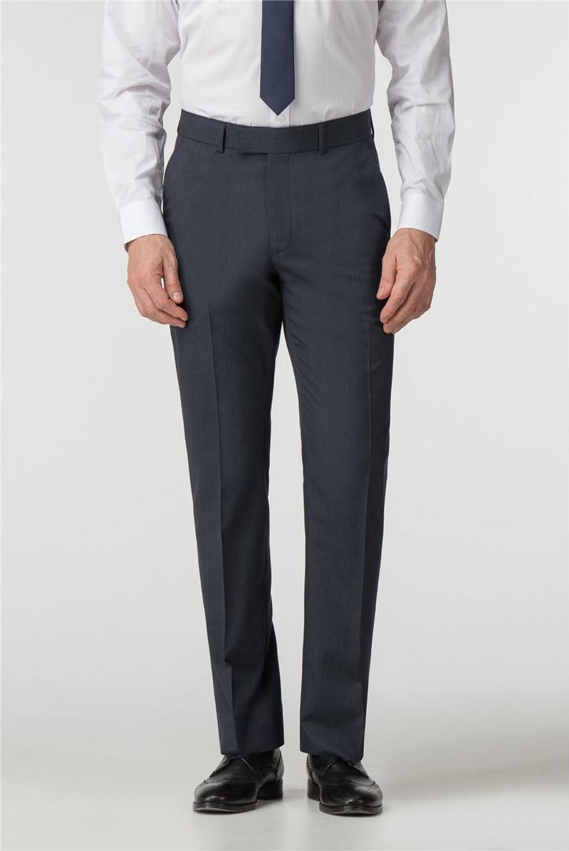 Regular Fit Navy Stripe Suit Trouser