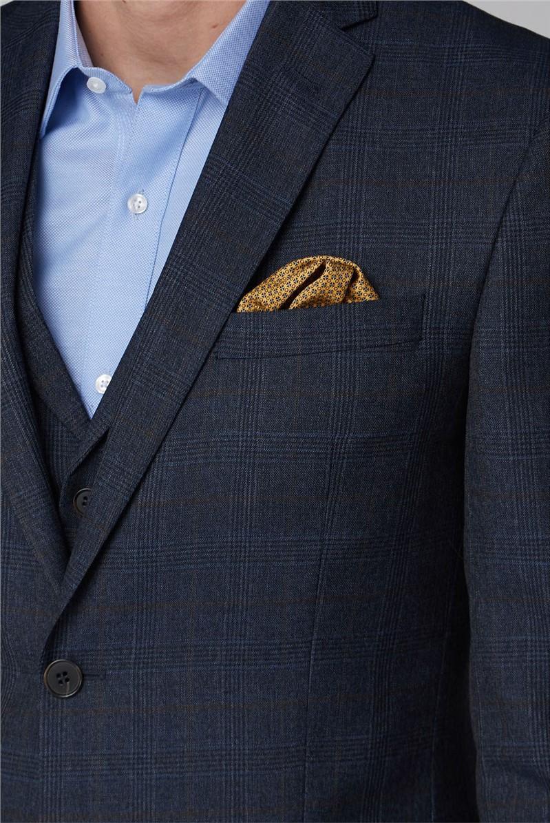 Navy Heritage Check Waistcoat