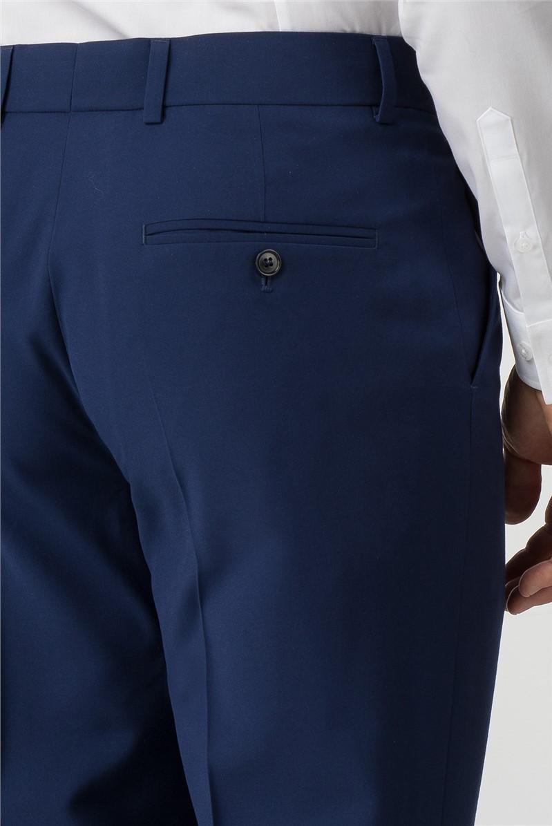 Occasions Regular Fit Blue Suit Trouser