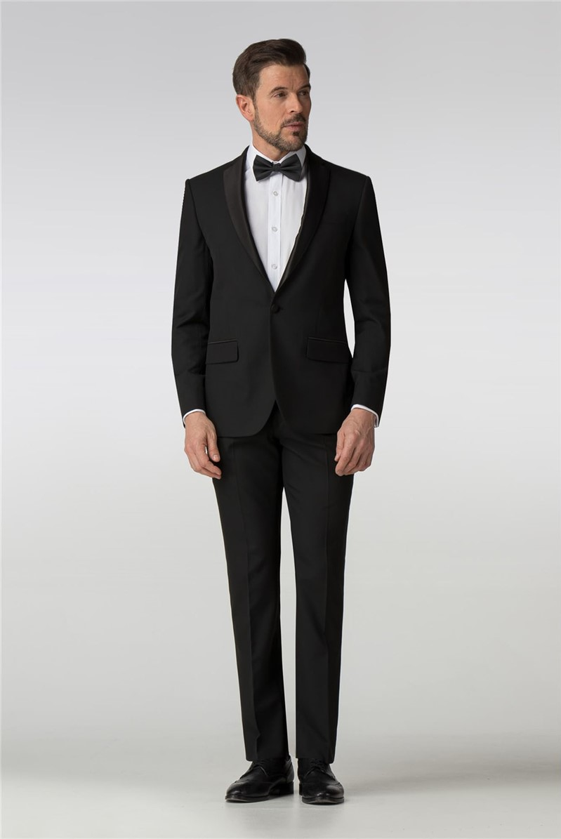 Tailored Fit Black Tuxedo Jacket