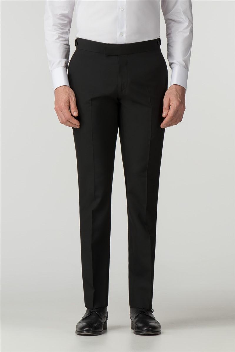 Tailored Fit Black Tuxedo Trouser