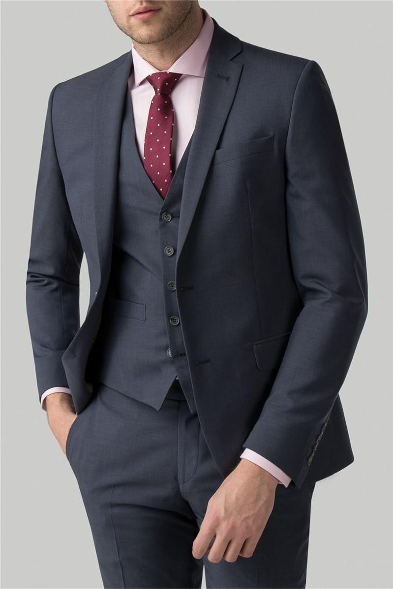Slate Blue Panama Waistcoat