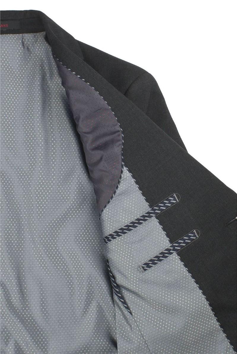 Charcoal Textured Regular Fit Travel Waistcoat