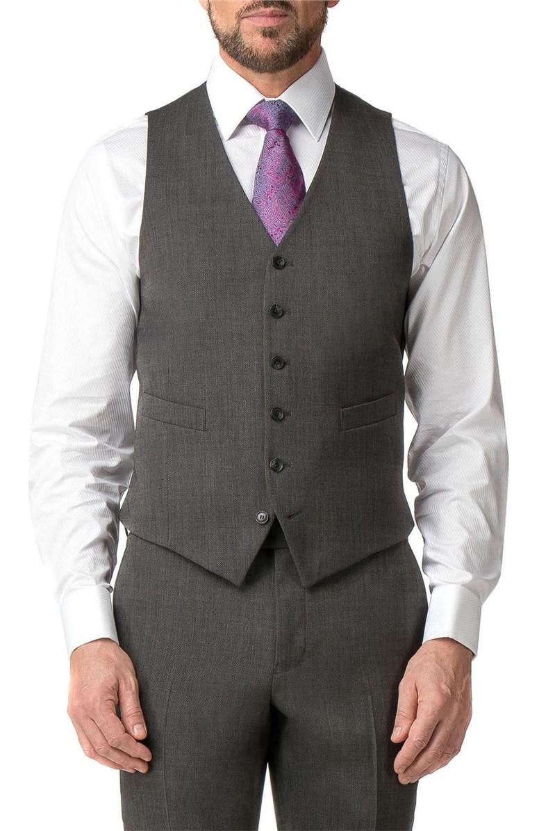 Grey Textured Regular Fit Travel Suit