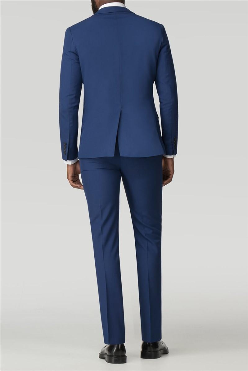Stvdio Bright Blue Plain Super Slim Fit Brit Suit Trouser