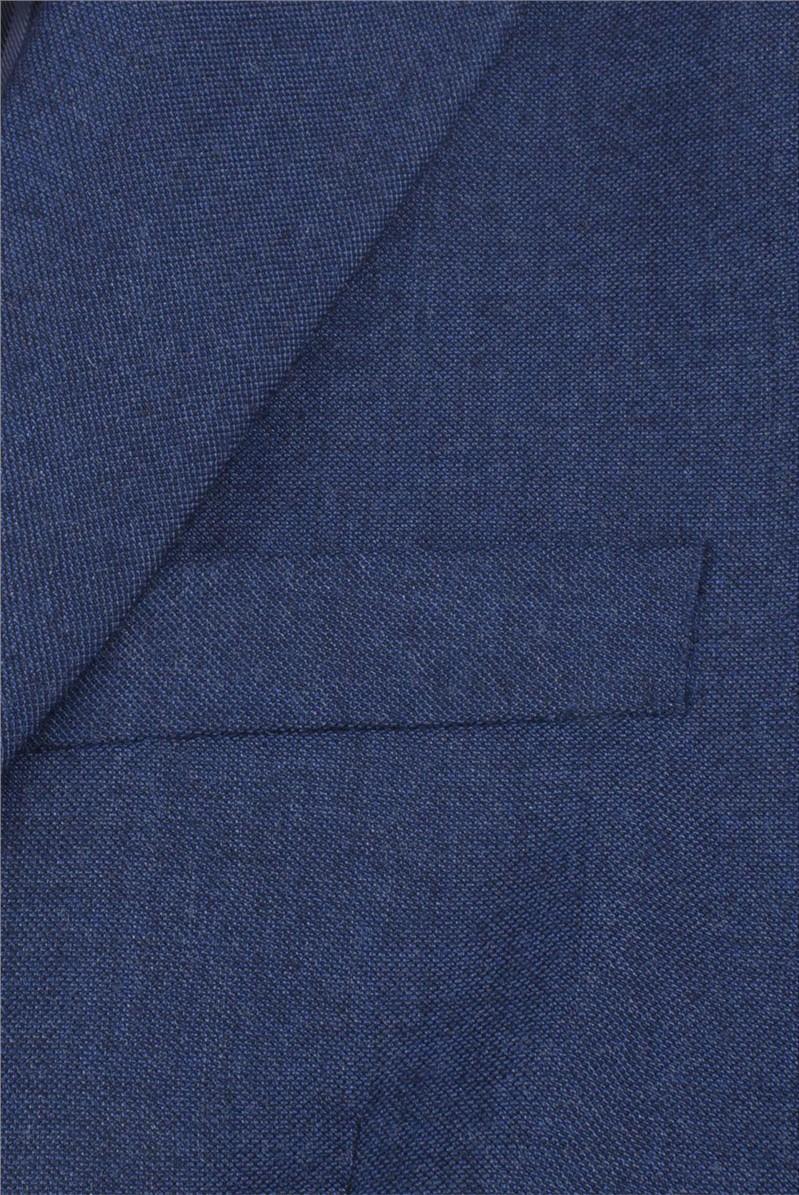 Stvdio Blue Textured Slim Fit Ivy League Waistcoat