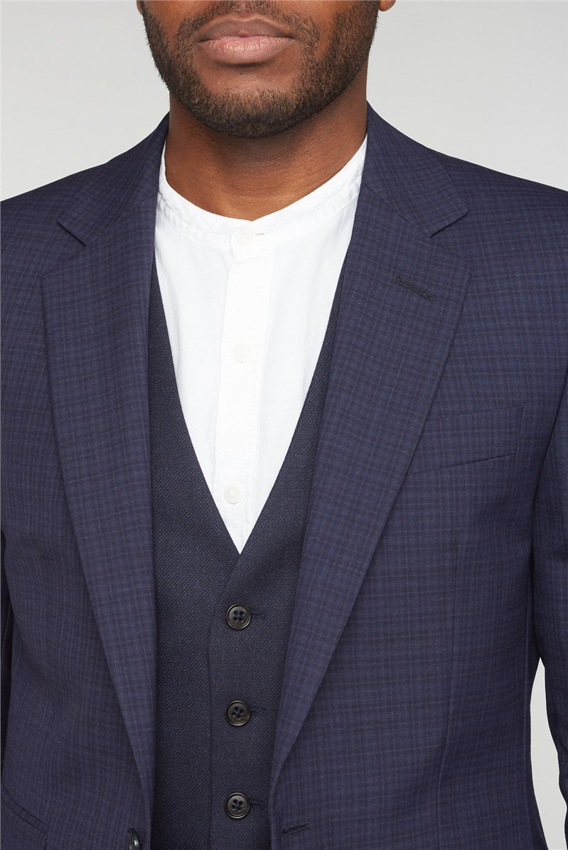 Blue Check Waistcoat