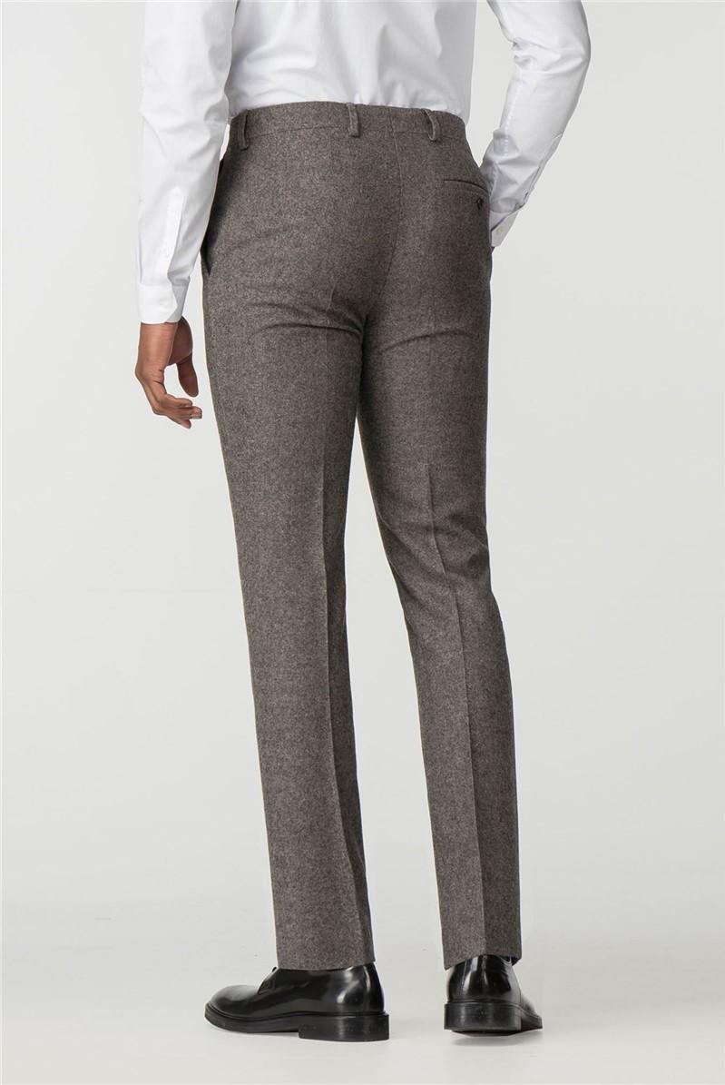 Stvdio Oatmeal Donegal Slim Fit Ivy League Suit Trouser
