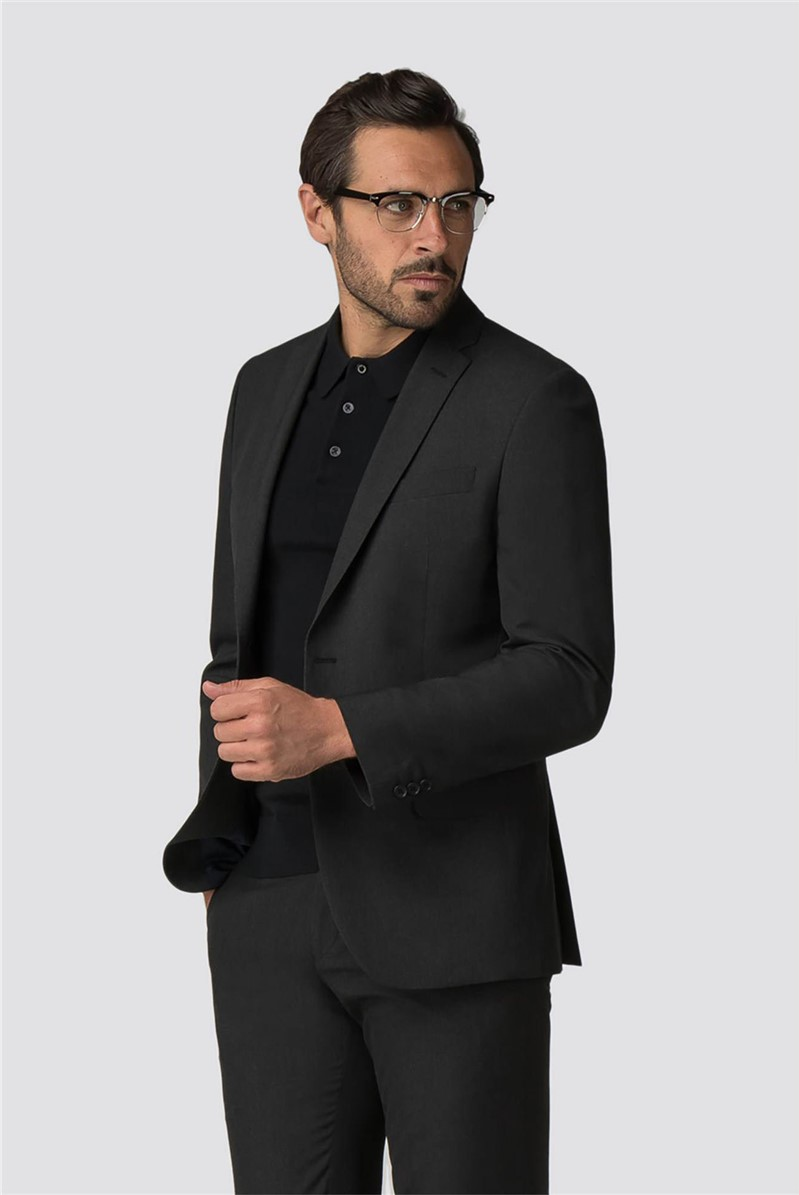 Tailored Fit Charcoal Panama Suit