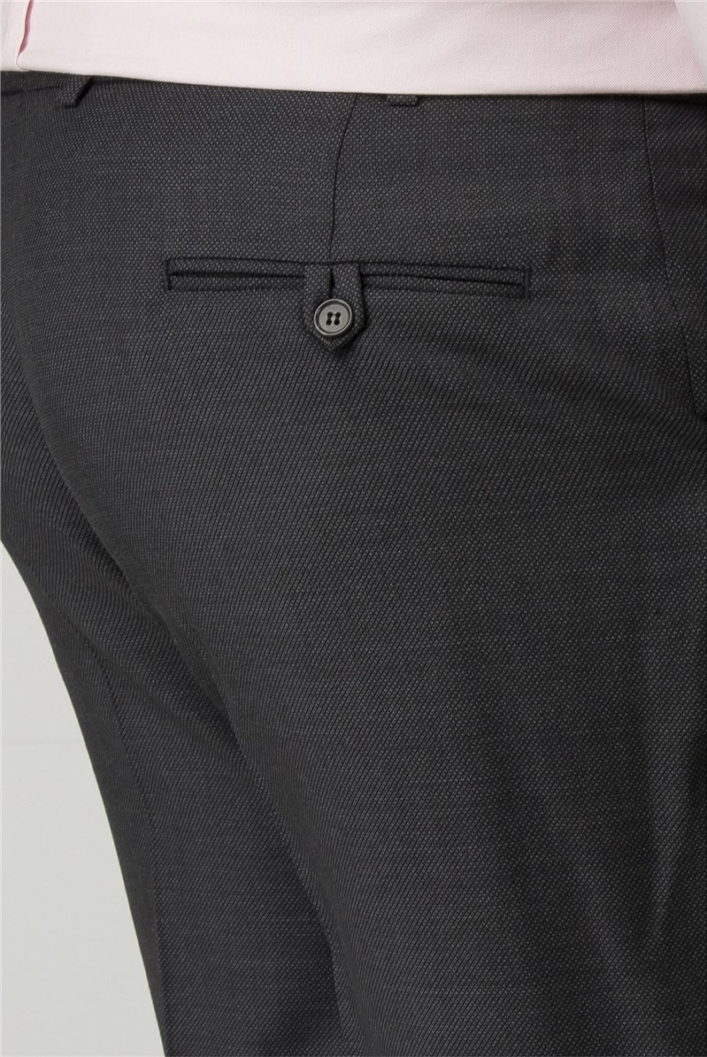 Charcoal Birdseye Big and Tall Trousers