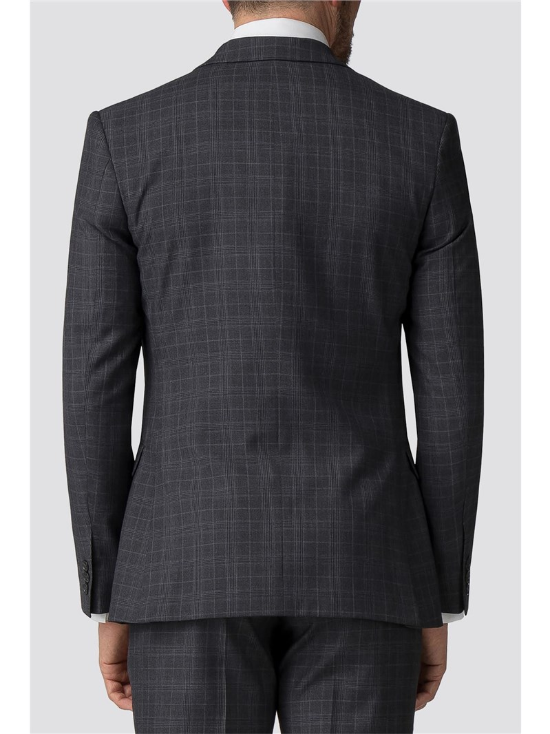 Charcoal Tonal Check Tailored Fit