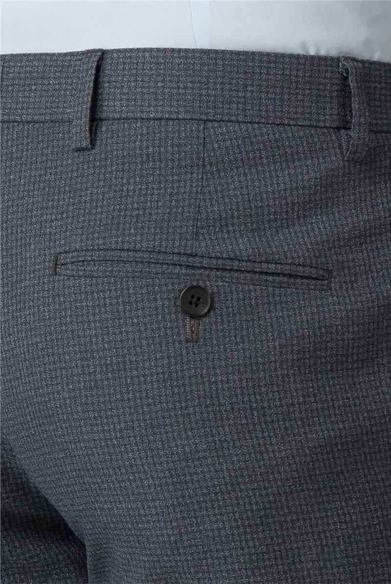 Charcoal Semi Plain Tailored Fit Trouser