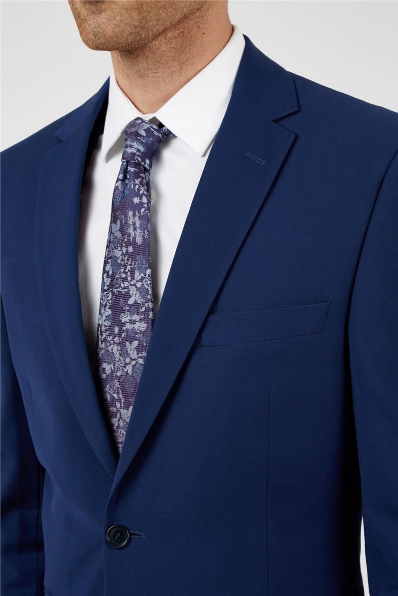 Bright Blue Plain Regular Trousers