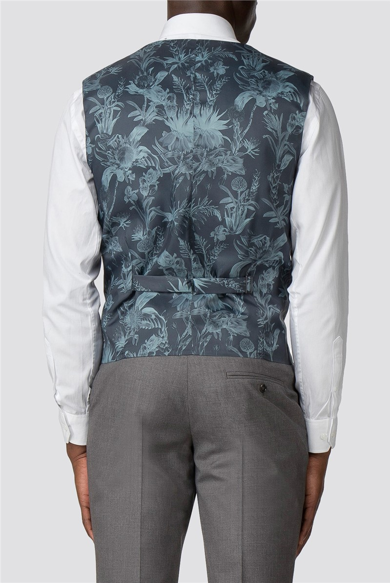 Grey Plain Slim Fit Suit
