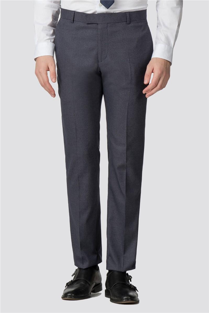 Airforce Blue Jaspe Slim Fit Trouser