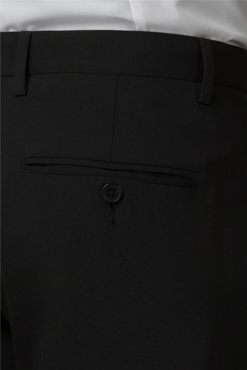 Branded Black Slim Fit Tuxedo Trousers