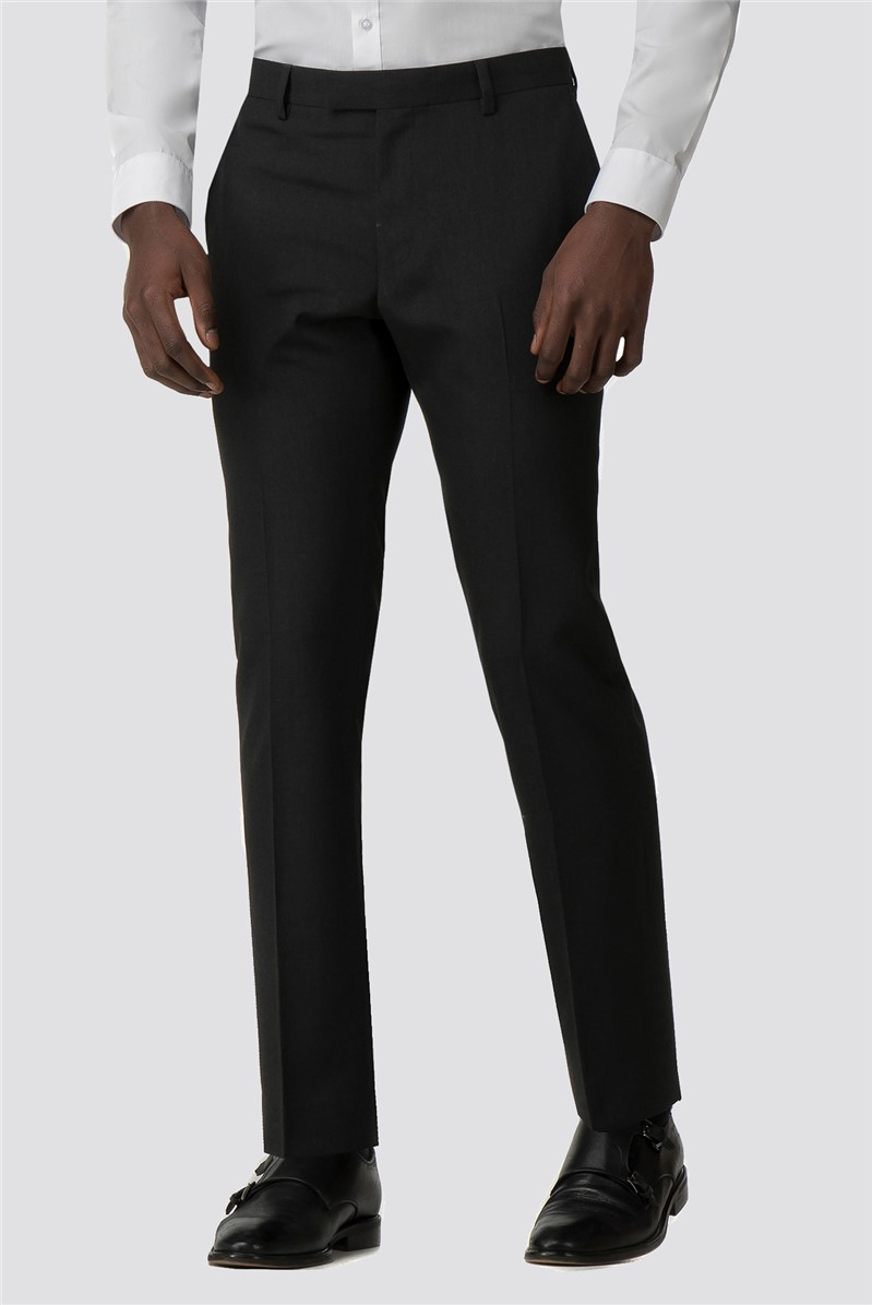 Branded Charcoal Slim Fit Tuxedo Trousers
