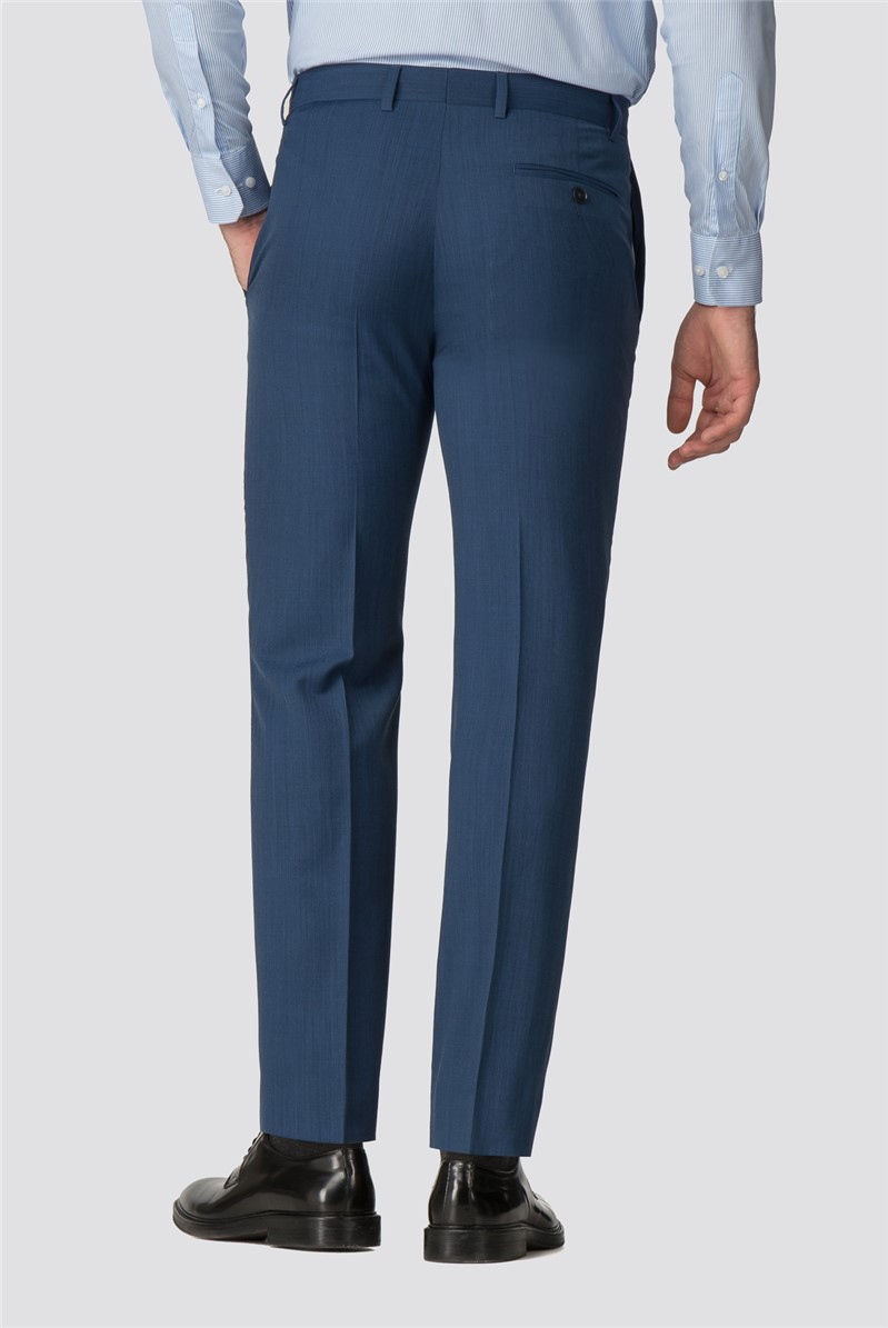 Bright Blue Pick and Pick Tailored Fit Suit