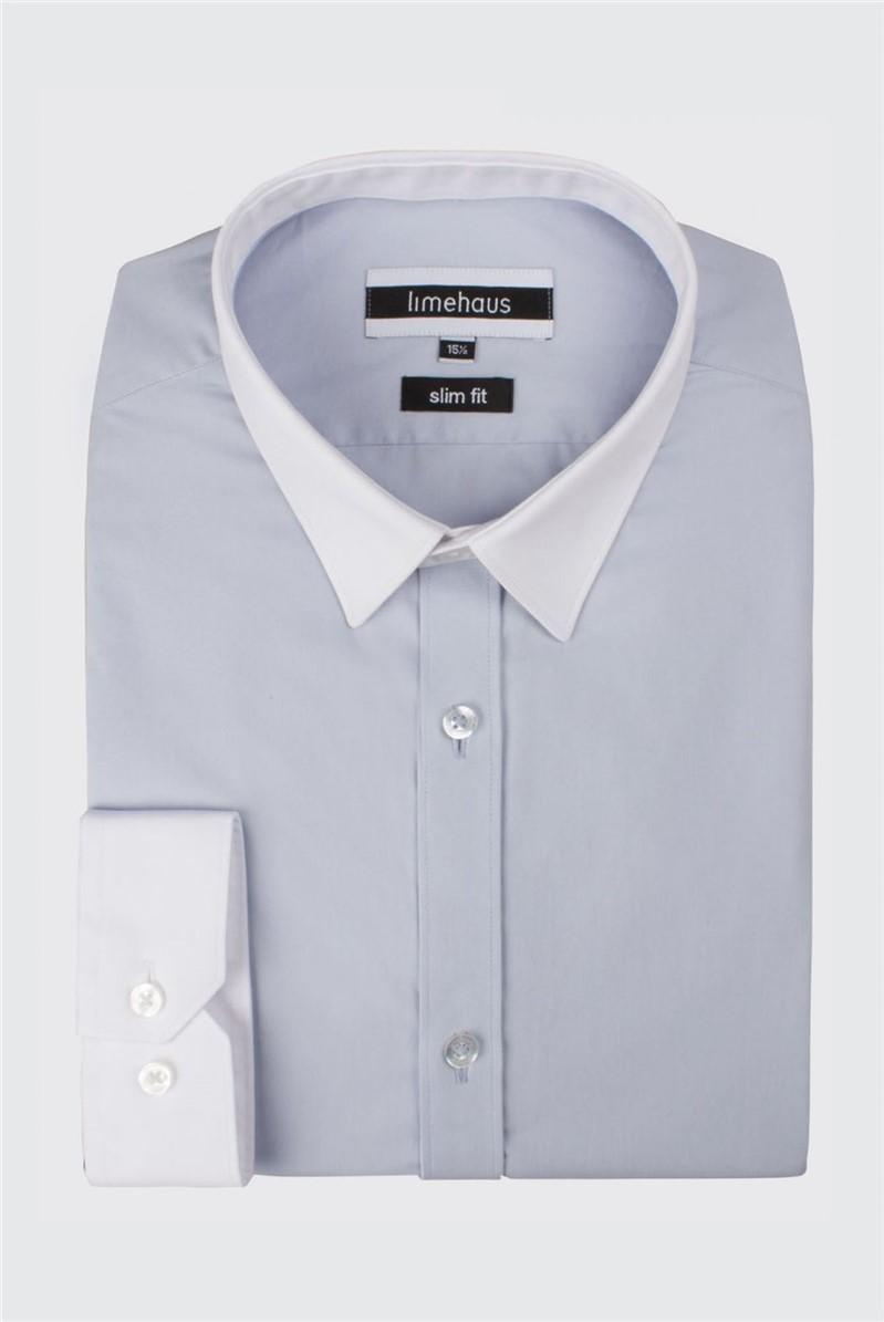 Blue Tipped Poplin Shirt