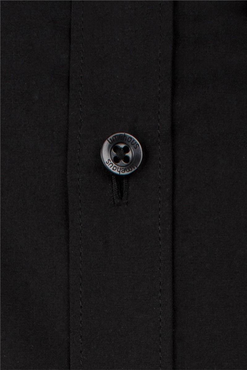 Black Poplin Slim Fit Shirt