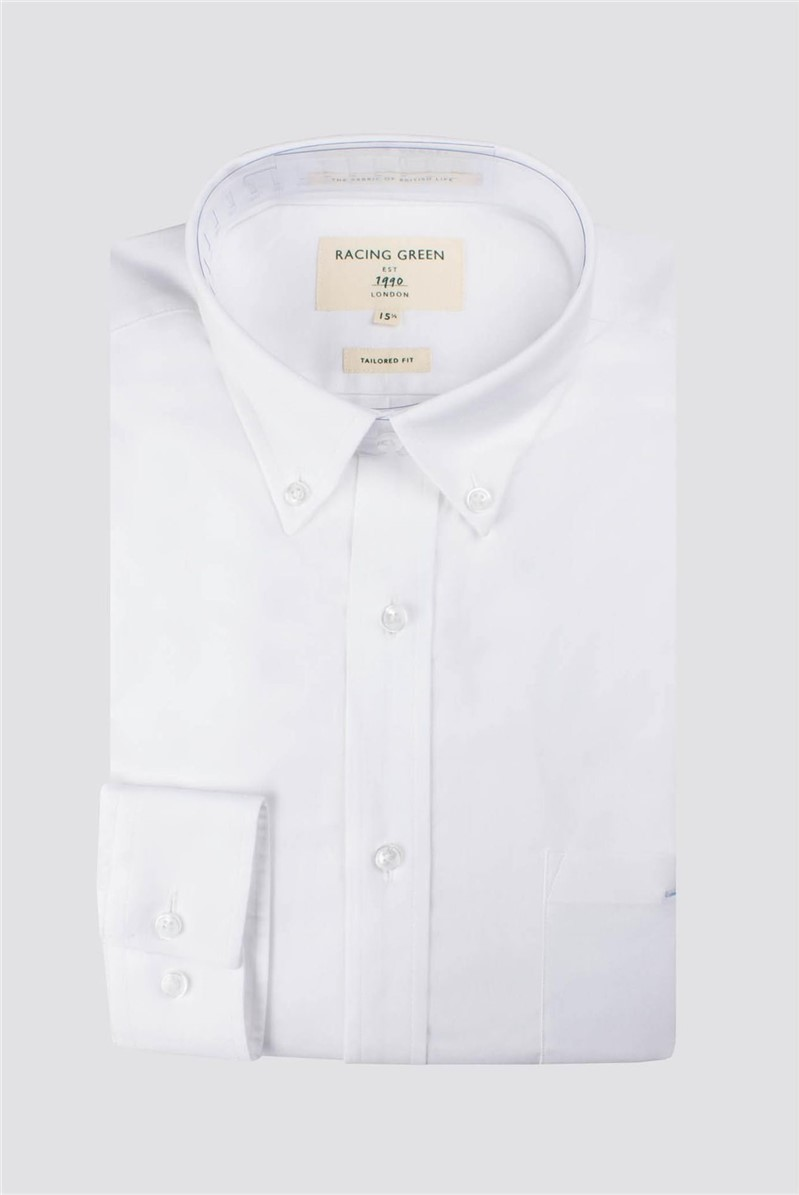 Racing Green White Oxford Tailored Shirt