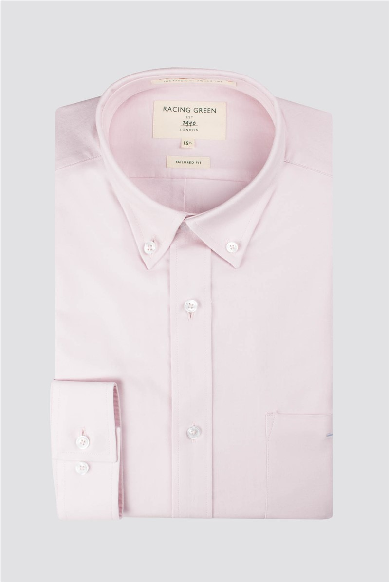 Racing Green Pink Oxford Tailored Shirt
