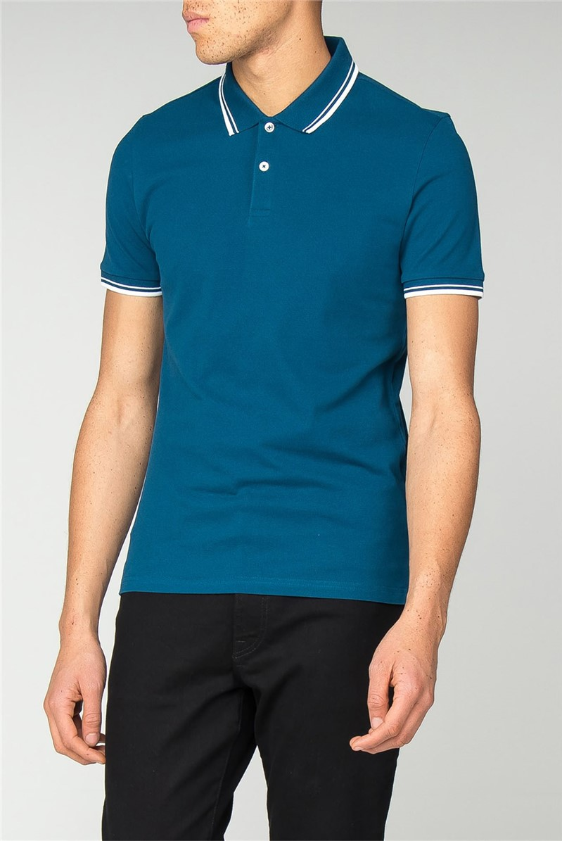 Blue Slim Fit Polo
