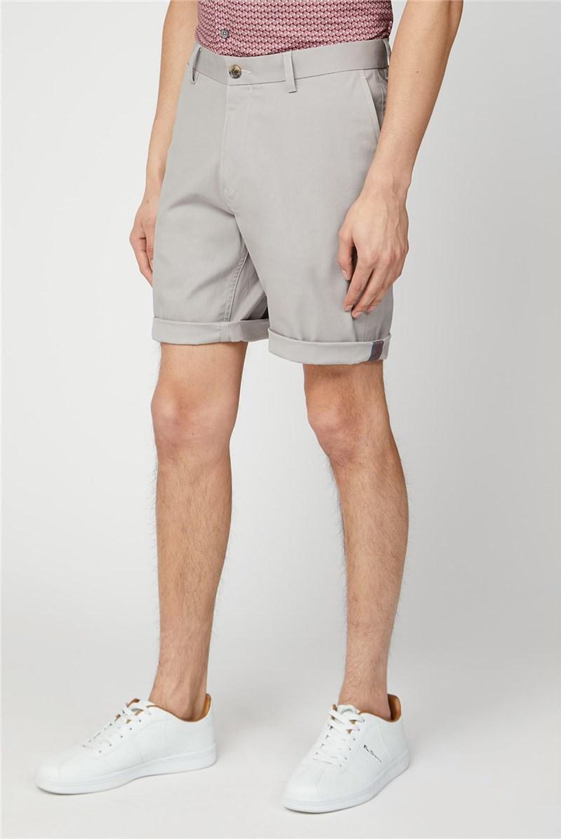 Men's Light Grey Chino Shorts