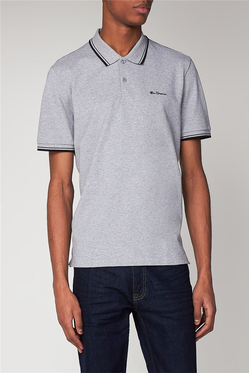 Silver Grey Romford Tipped Polo Shirt
