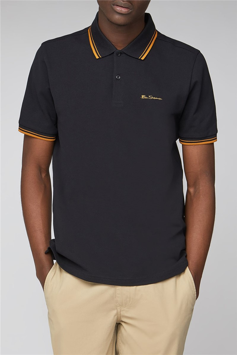 Black Romford Tipped Polo