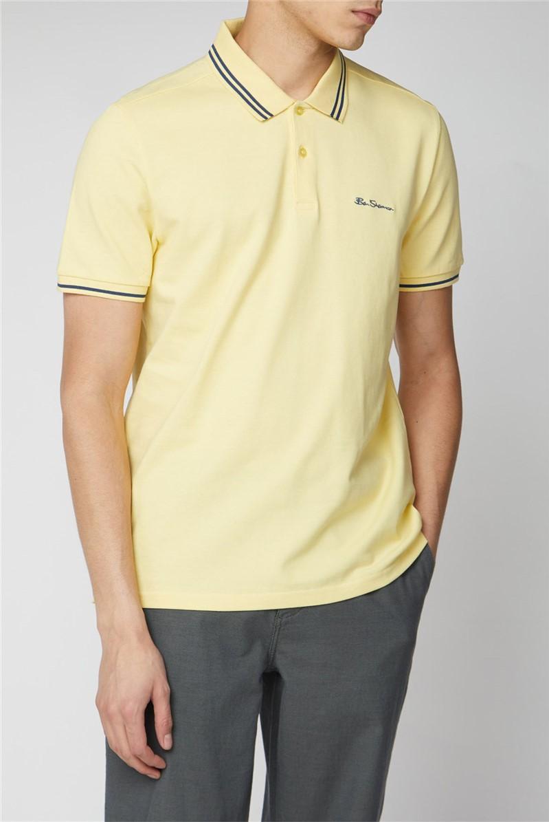 Yellow Romford Tipped Polo Shirt