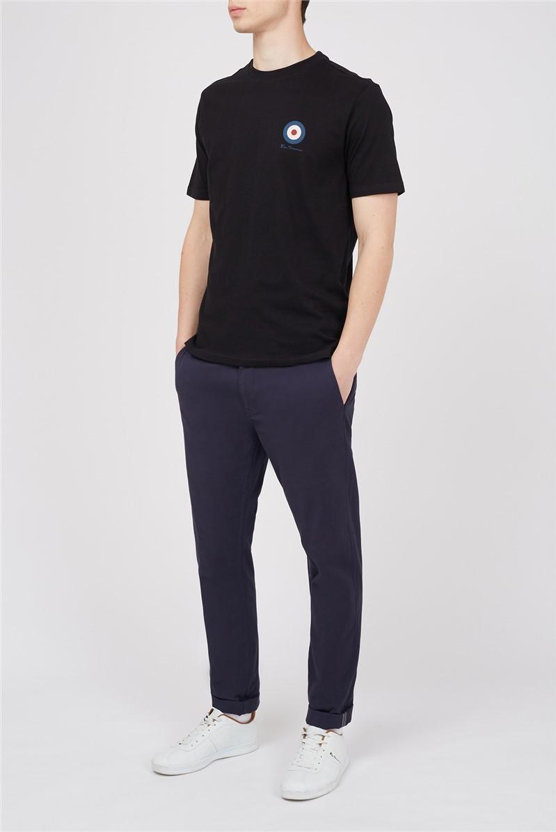 Black Script Chest Target T-Shirt