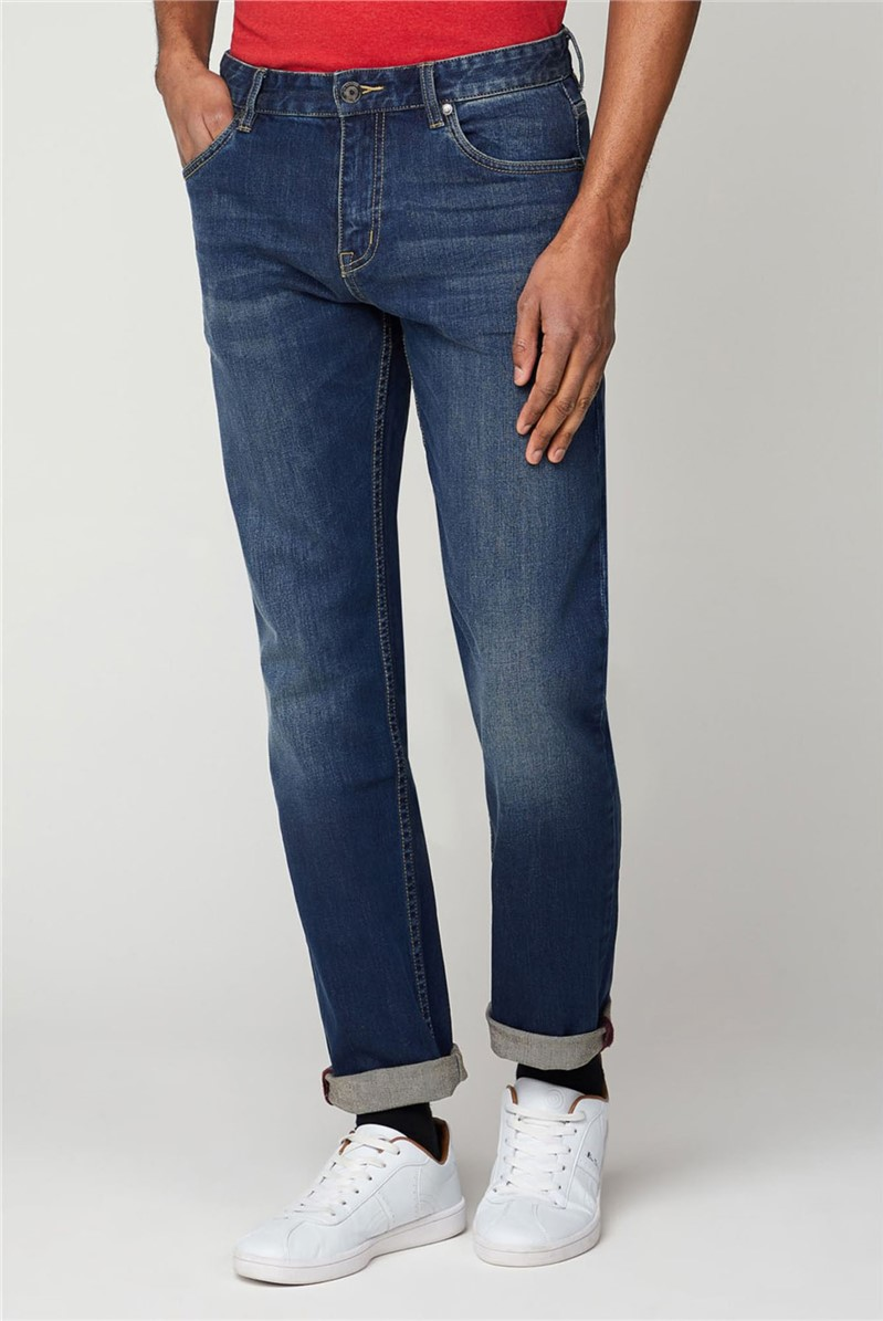 Stonewash Straight Fit Jean