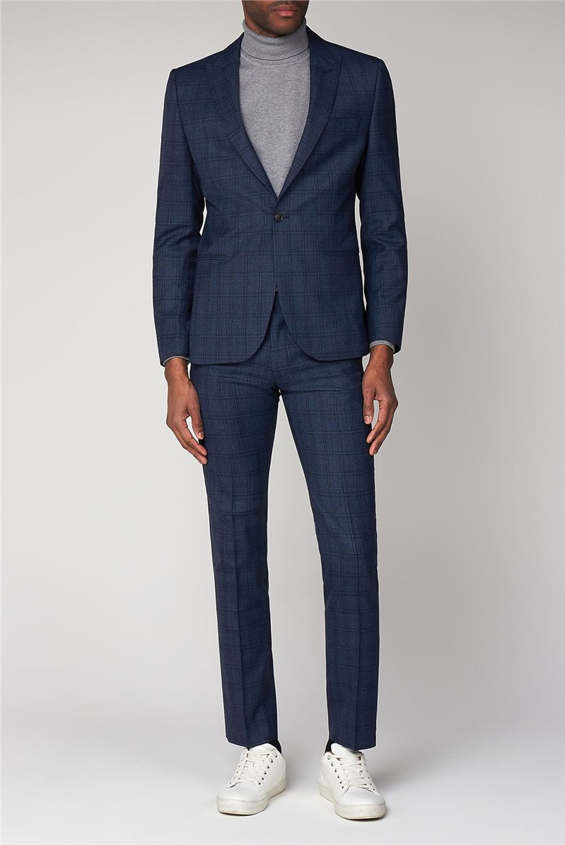 Airforce Blue Check Camden Suit